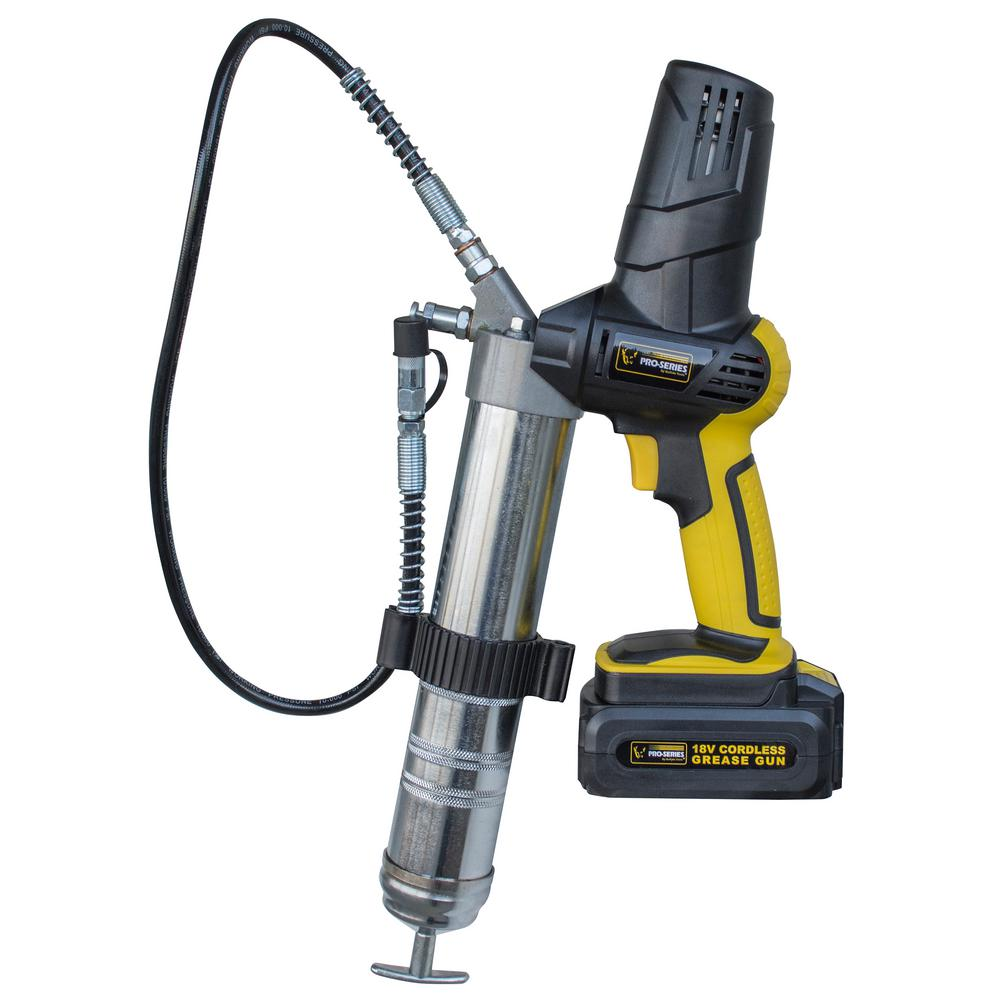 Electric Grease Gun >> Pro Series 18 Volt Cordless Grease Gun With 31 In Flexible Hose