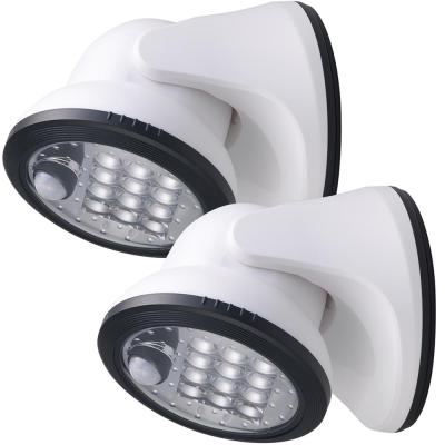 12-Light White Motion Activated Outdoor Integrated LED Wireless Area Light (2-pack)