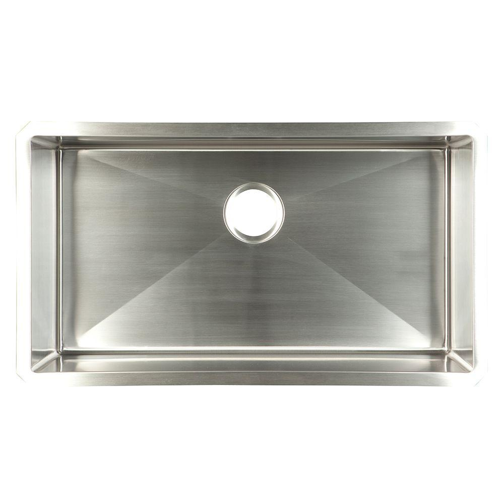 Franke Undermount Stainless Steel 32x18x10 18 Gauge Single Bowl Kitchen Sink UDTS32/10    The Home Depot
