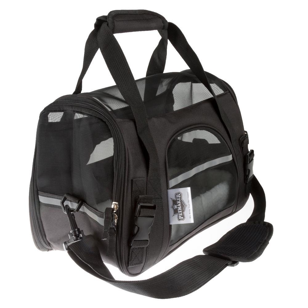Petmaker Airline Compliant Black Pet Travel Bag