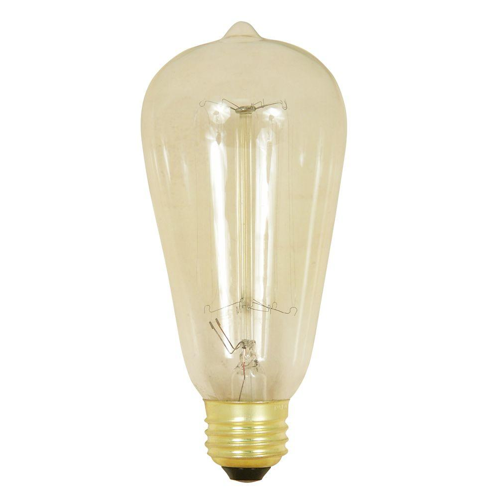 Feit electric 40 watt soft white st19 incandescent original vintage style light bulb case of 6 Light bulb wattage