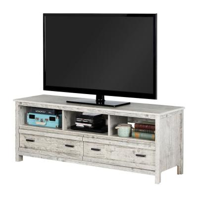 Exhibit 59 in. Seaside Pine Particle Board TV Console 60 in.