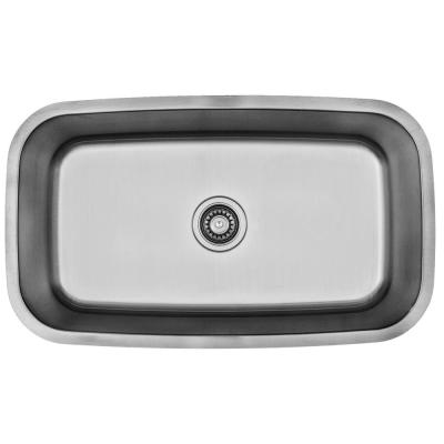 Builder's Choice Stainless Steel 32 in. Large Single Bowl Undermount Kitchen Sink