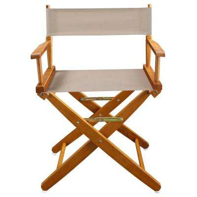 Extra-Wide 18 in. Mission Oak Frame/Natural Canvas American Hardwood Directors Chair