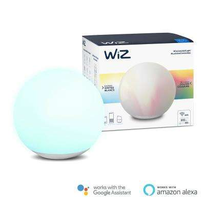 Spirit 7.5 in. Frosted Glass Globe Color and Tunable White Wi-Fi Connected Smart LED Table Lamp
