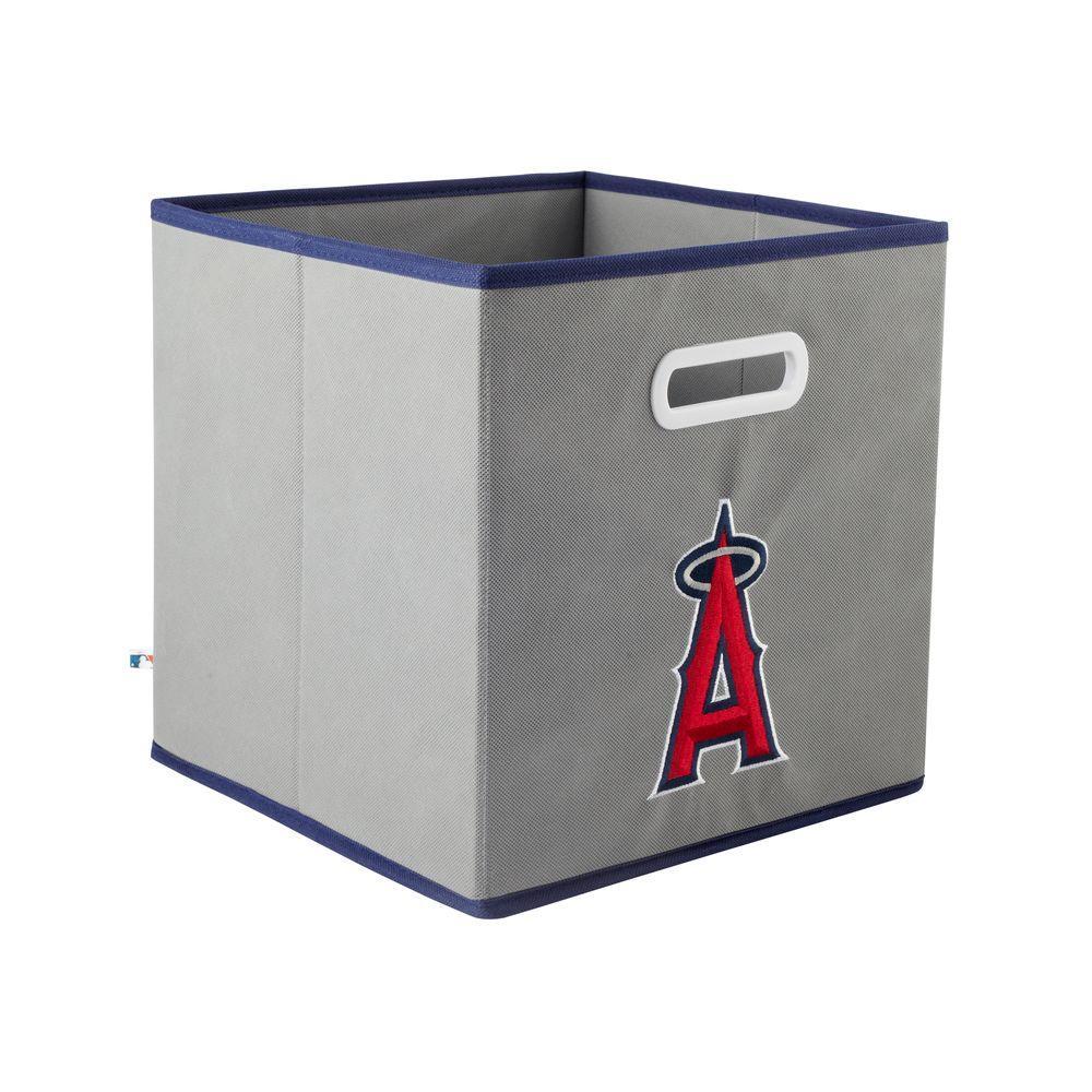 MyOwnersBox MLB STOREITS Los Angeles Angels 10-1/2 in. x 10-1/2 in. x 11 in. Grey Fabric Storage Drawer
