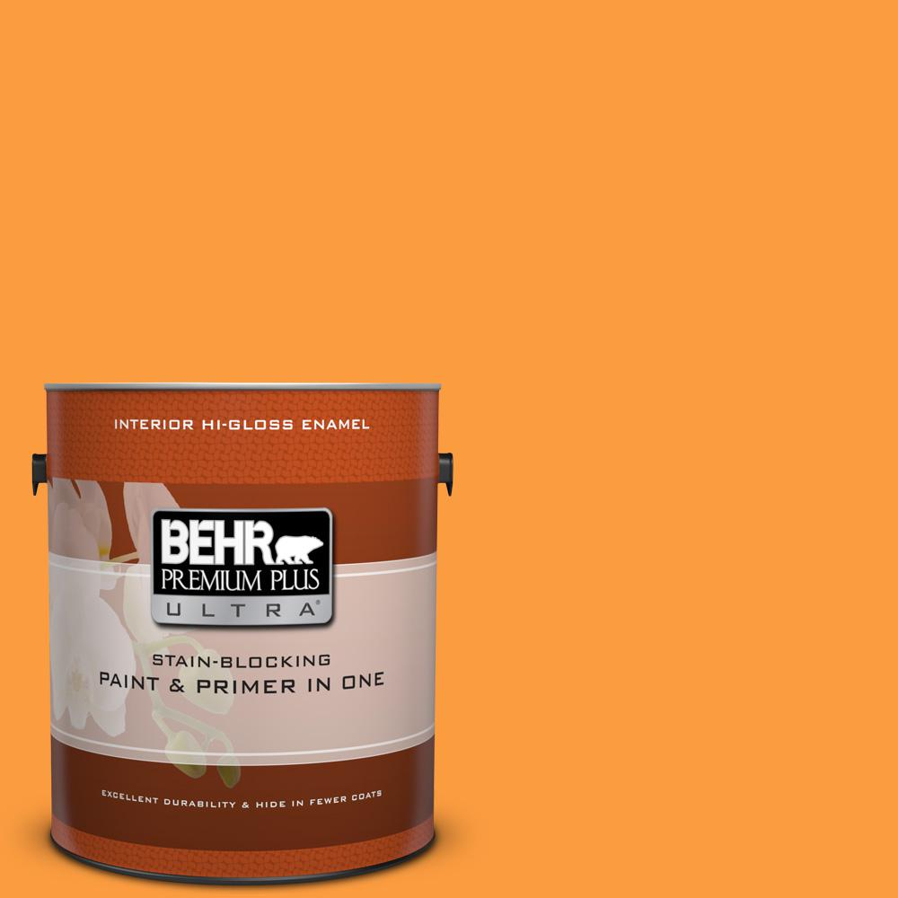BEHR Premium Plus Ultra 1 gal. #P240-6 Exotic Blossom Hi-Gloss Enamel Interior Paint and Primer in One