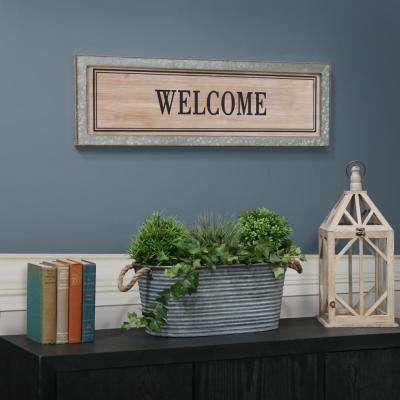 "10.00 in. x 33.00 in. ""Welcome"" Printed Wall Art"