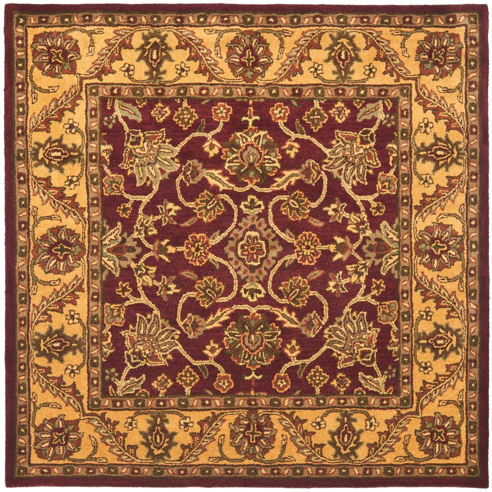 Safavieh Golden Jaipur Burgundy Gold 8 Ft X 8 Ft Square Area Rug