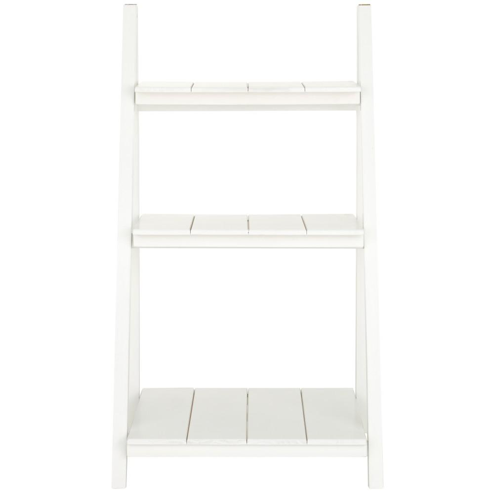 Nolan White Folding 3- Shelf Ladder Bookcase