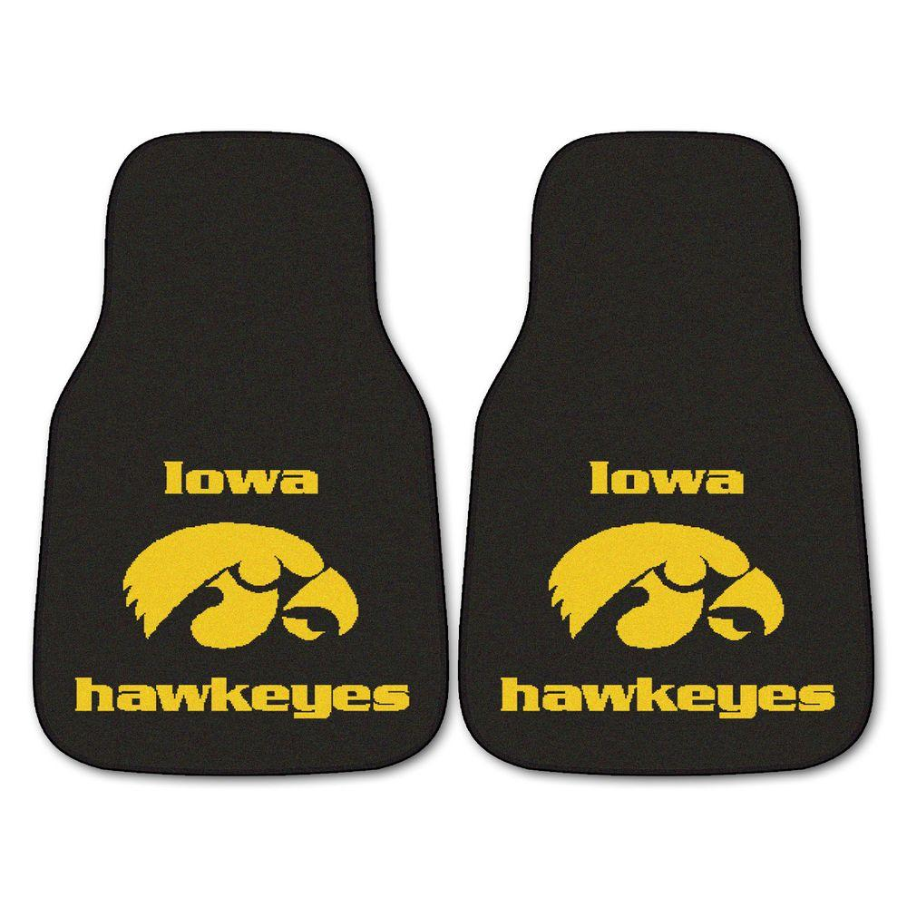 University of Iowa 18 in. x 27 in. 2-Piece Carpeted Car