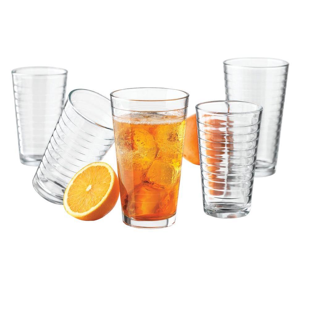 Libbey Hoops 16-Piece Glassware Set