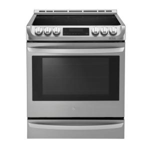 Click here to buy LG Electronics 6.3 cu. ft. Slide-In Electric Range with ProBake Convection Oven in Stainless Steel by LG Electronics.