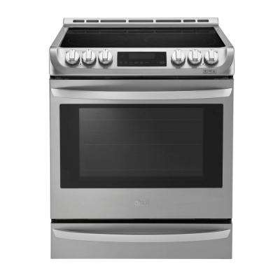 6.3 cu. ft. Slide-In Electric Range with ProBake Convection Oven in Stainless Steel