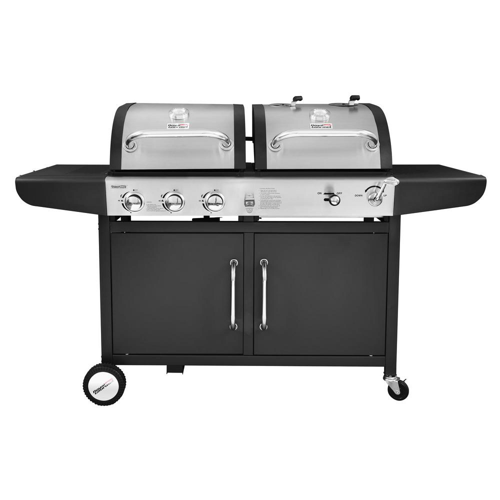 Royal Gourmet 3 Burner Propane Gas And Charcoal Combo Grill
