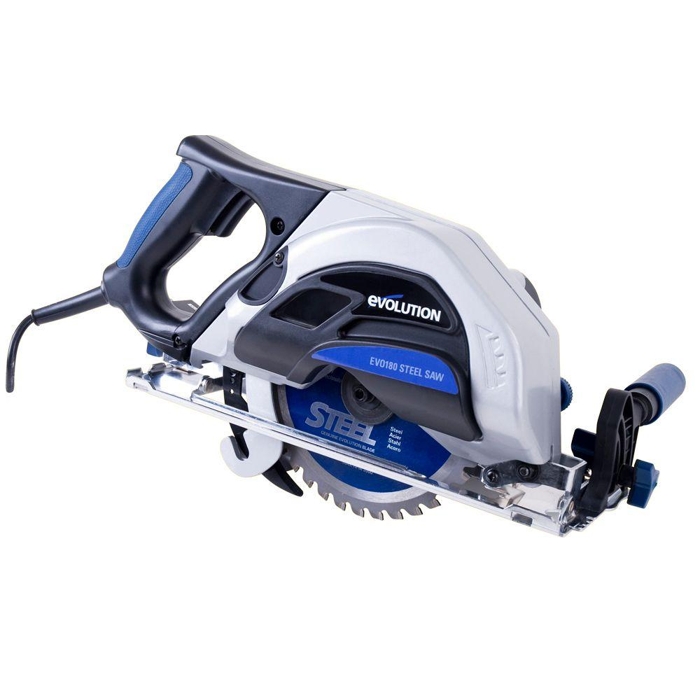 Evolution Power Tools 9 Amp 7-1/4 in. Steel Cutting Circular Saw ...