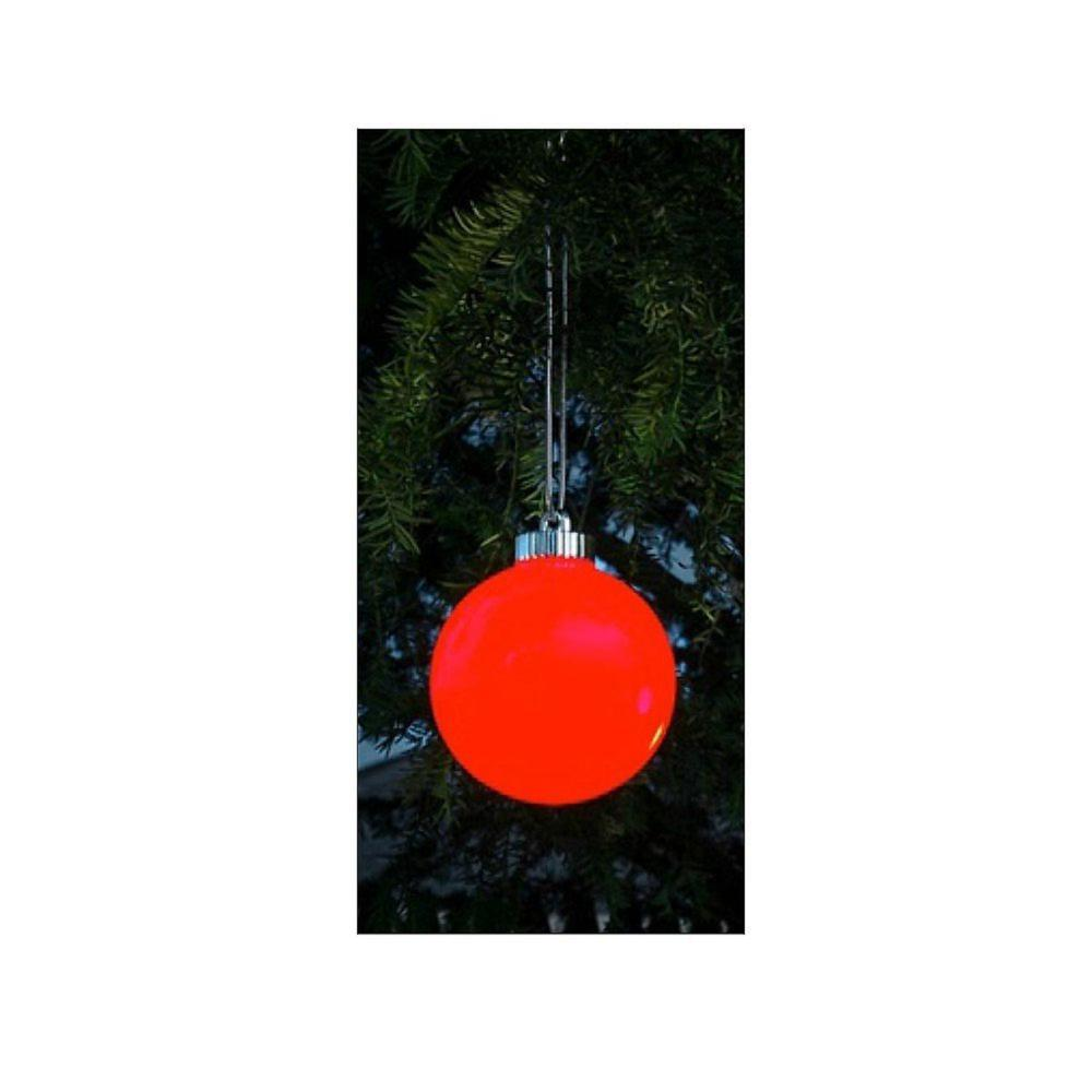 Sienna 3-Light Red Battery Operated Shatterproof Christmas Ball Ornament  LED Lights (3-Pack)