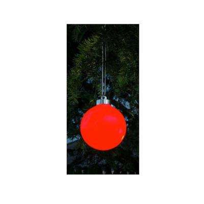 3-Light Red Battery Operated Shatterproof Christmas Ball Ornament LED Lights (3-Pack)