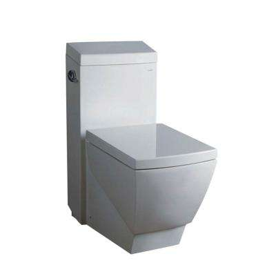 Apus 1-piece 1.6 GPF Single Flush High-Efficiency Elongated Toilet in White