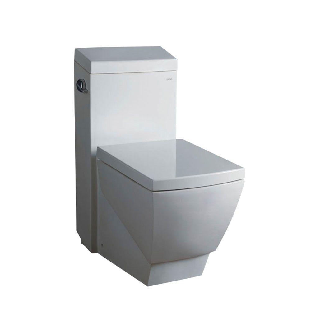 Apus 1-piece 1.6 GPF Single Flush High-Efficiency Elongated Toilet in White