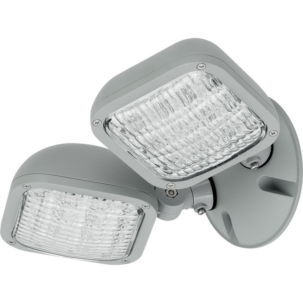 PEWLH Collection 0-Watt Metallic Gray Integrated LED Emergency Light