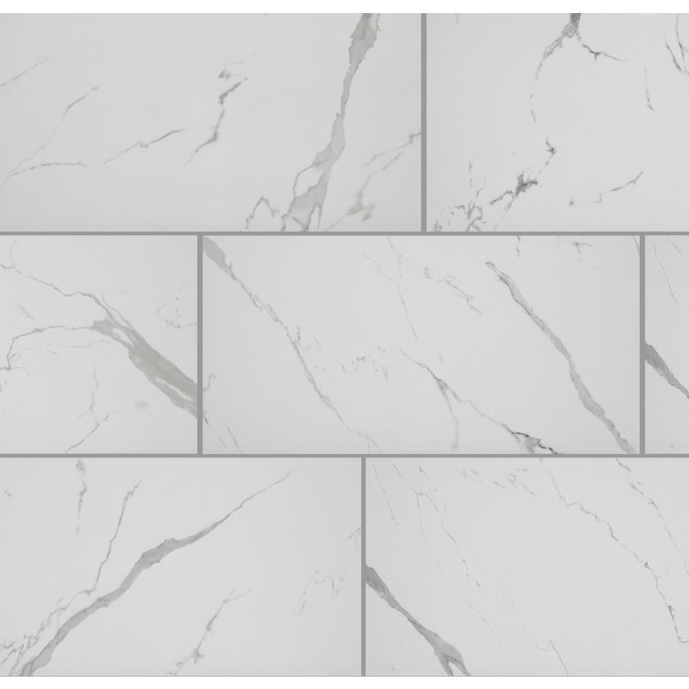 Florida Tile Home Collection Carrara Matte Rectified 12 in. x 24 in. Porcelain Floor and Wall Tile (425.6 sq. ft. / pallet)
