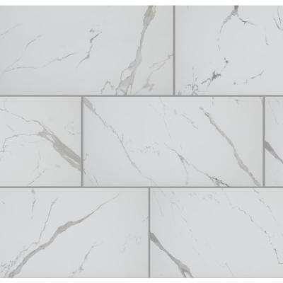 Carrara Matte Rectified 12 in. x 24 in. Porcelain Floor and Wall Tile (425.6 sq. ft. / pallet)