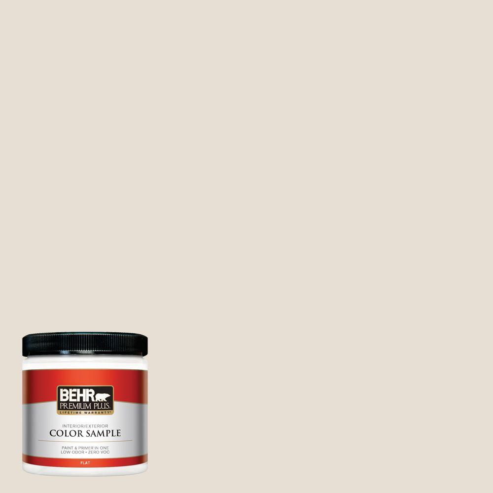 Behr Premium Plus 8 Oz 73 Off White Flat Interior Exterior Paint And