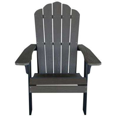 Driftwood with Black Accents Outdoor 2-Tone Wood Construction with Durable Faux Adirondack Chair