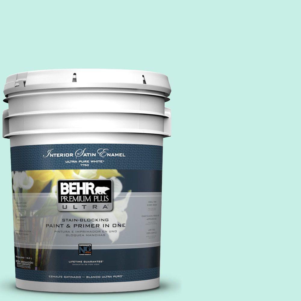 BEHR Premium Plus Ultra 5-gal. #P430-1 Summer House Satin Enamel Interior Paint