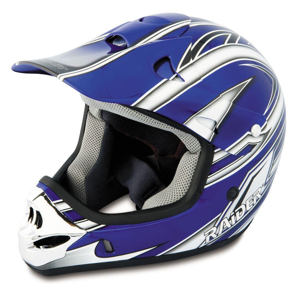 Raider Large Youth Blue MX 3 Helmet