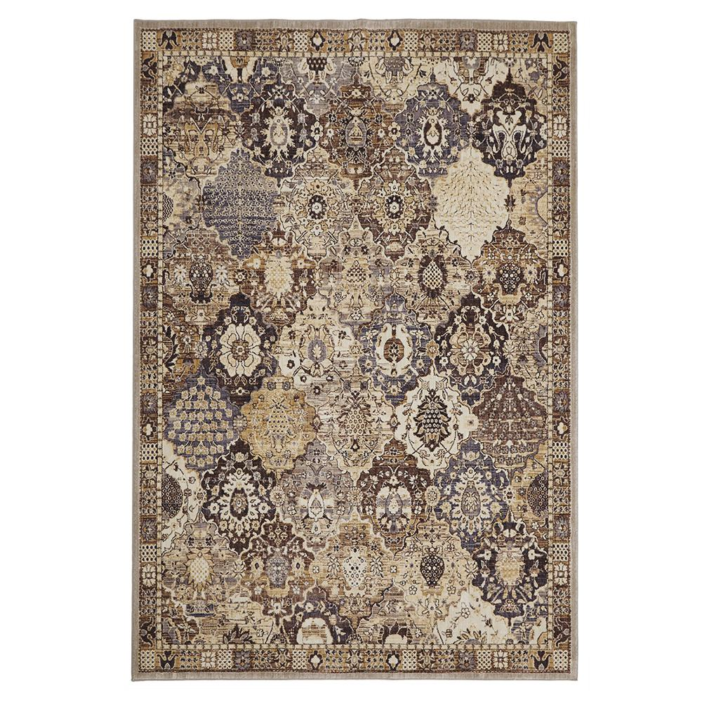 Home Decorators Collection Patchwork Medallion Grey 5 Ft X 7 Area Rug