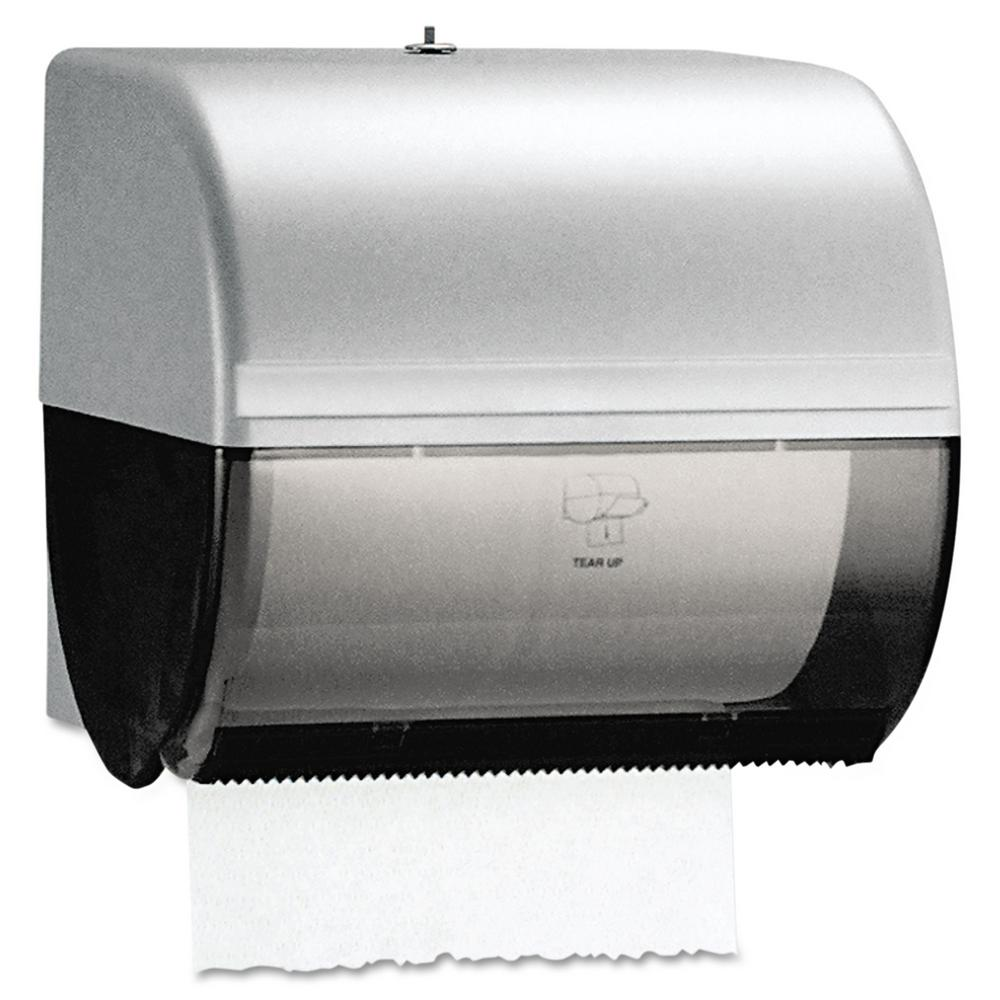 paper towel dispenser for home bathroom. Kimberly-Clark PROFESSIONAL 10-1/2 In. X 10 In-Sight Omni Roll Towel Dispenser In Smoke/Gray-KCC09746 - The Home Depot Paper For Bathroom I