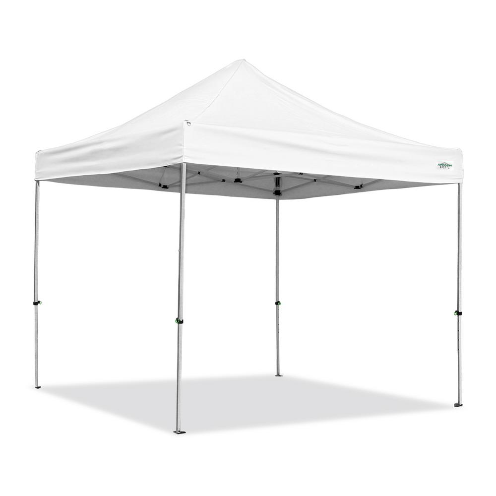 Alumashade With Sidewalls 10 Ft X White Instant Canopy