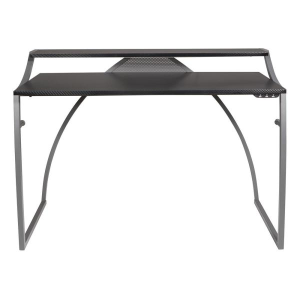 50 in. Rectangular Black Computer Desk with USB Port
