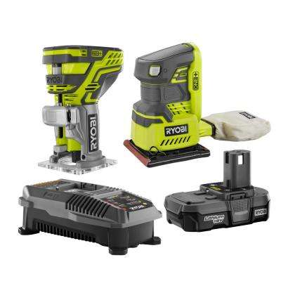 18-Volt ONE+ Cordless Lithium-Ion 2-Tool Woodworking Combo Kit with (1) 1.3 Ah Battery and Charger
