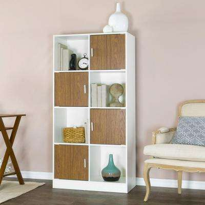 Chateau White and Brown Bookcase