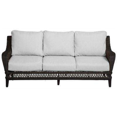 Woodbury Wicker Outdoor Patio Sofa with Cushions Included, Choose Your Own Color
