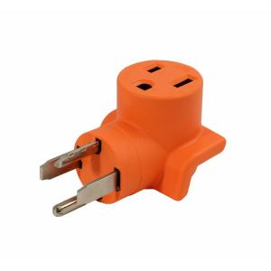 30Amp 4-Prong 14P to 30P Dryer Plug to 6-50R 50 Amp 250-Volt Welder adapter by