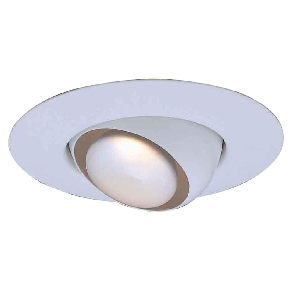 Commercial Electric 6 in. R30 White Recessed Eyeball Trim (6-Pack)