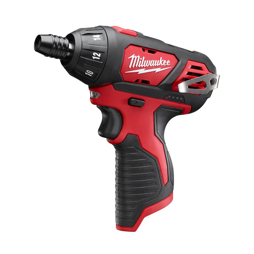 milwaukee m12 12 volt lithium ion cordless 1 4 in hex screwdriver tool only 2401 20 the. Black Bedroom Furniture Sets. Home Design Ideas