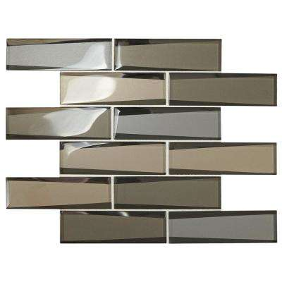 Premier Accents Frost Linear 12 in. x 13 in. x 8 mm Glass Mosaic Wall Tile (0.96 sq. ft. / piece)