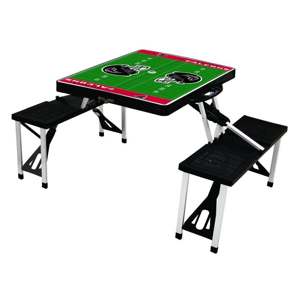 Picnic Time Atlanta Falcons Sport Plastic Outdoor Patio Picnic Table - Picnic table atlanta