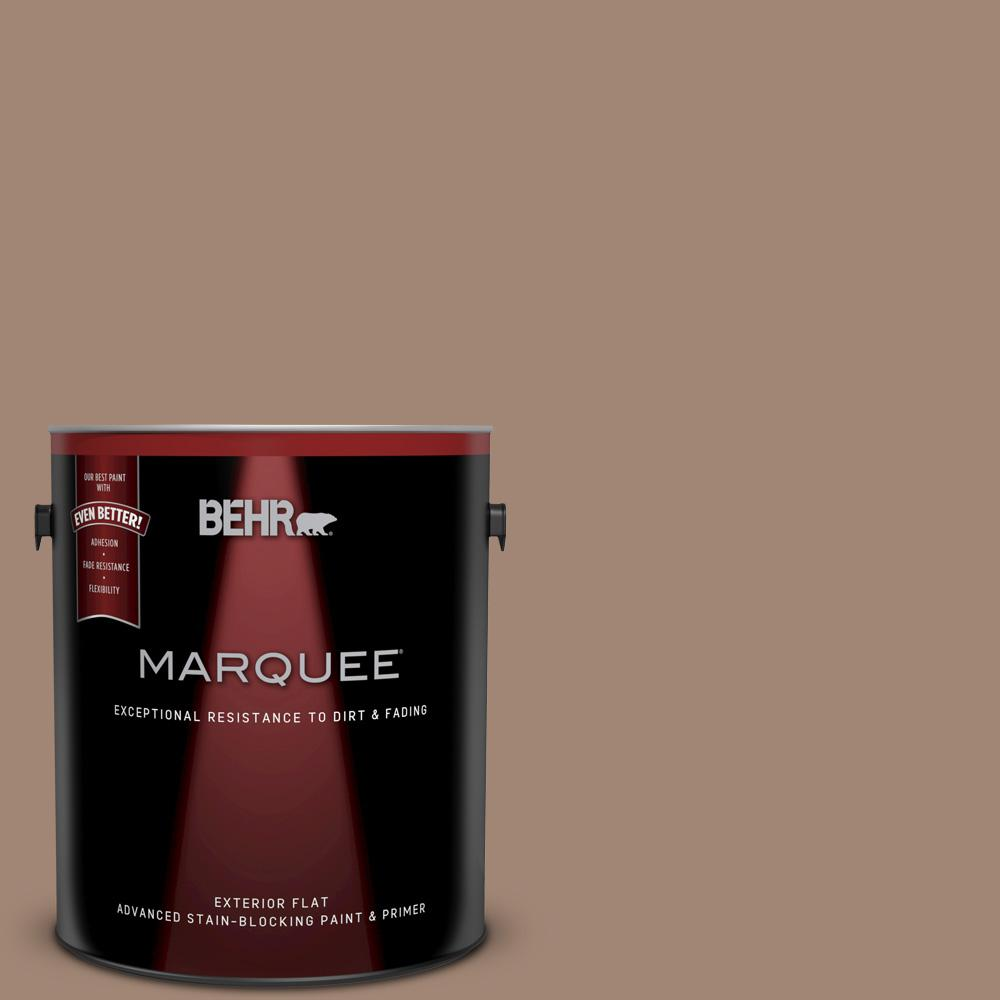 1-gal. #QE-22 Terrazzo Brown Flat Exterior Paint