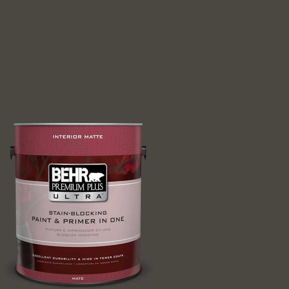 1 gal. #HDC-CL-14A Warm Onyx Matte Interior Paint and Primer in
