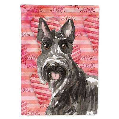 11 in. x 15-1/2 in. Polyester Love a Scottish Terrier 2-Sided 2-Ply Garden Flag