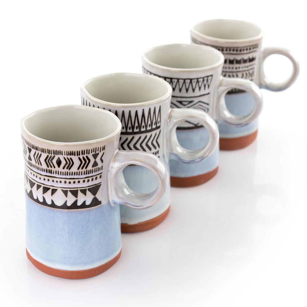 15.2 fl. oz. Assorted Stoneware Mug ( Set of 4)