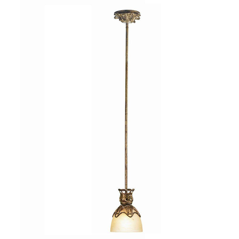 Eurofase Laurance Collection 1-Light Hanging Antique Gold Mini Pendant -DISCONTINUED