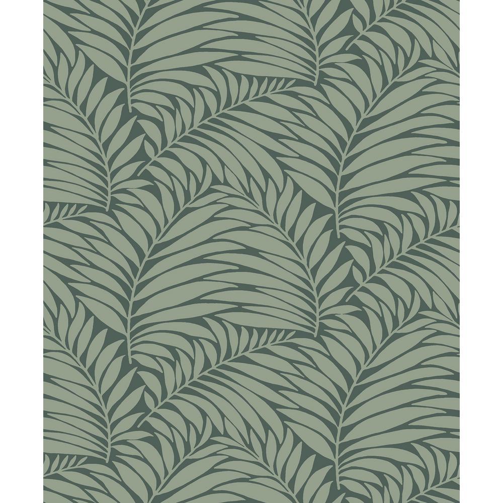 8 in. x 10 in. Myfair Olive Leaf Wallpaper Sample