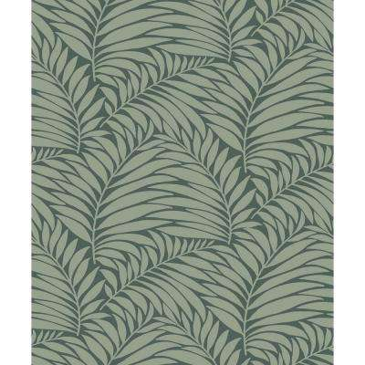 8 in. x 10 in. Myfair Olive Leaf Wallpaper Sample
